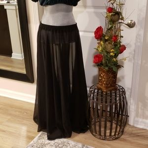 Black Sheer Gypsy Skirt